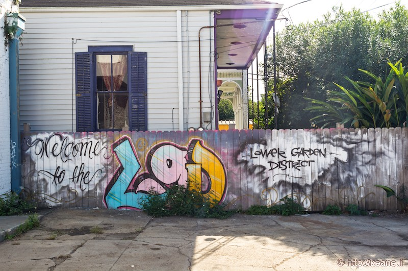 Street Art in the New Orleans Garden District