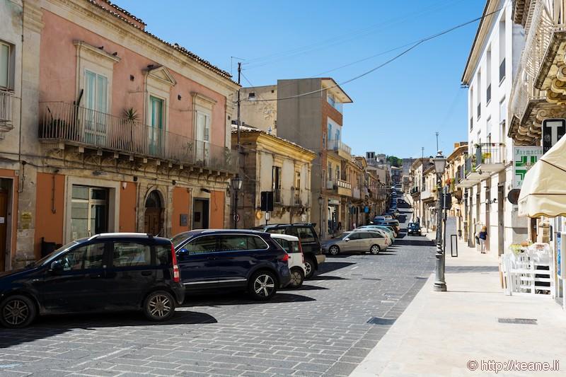 Corso Vittorio Emanuele in Palazzolo Acreide