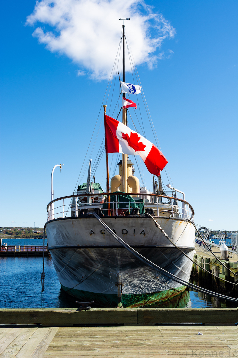 The Acadia Along the Halifax Waterfront