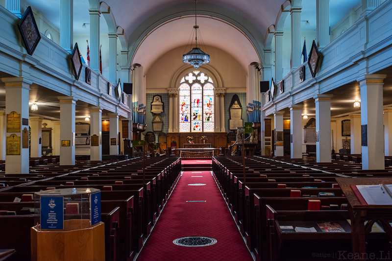 Inside St. Paul's Anglican Church in Halifax