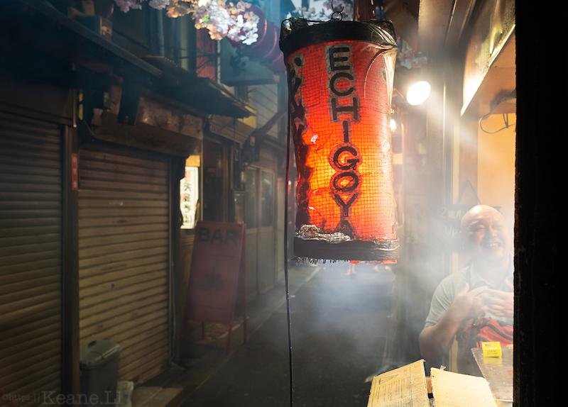 A yakitori restaurant in Omoide Yokocho in Tokyo's Shinjuku