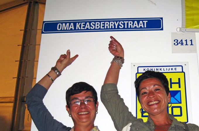 Oma Keasberry street at the Tong Tong Fair in The Hague.