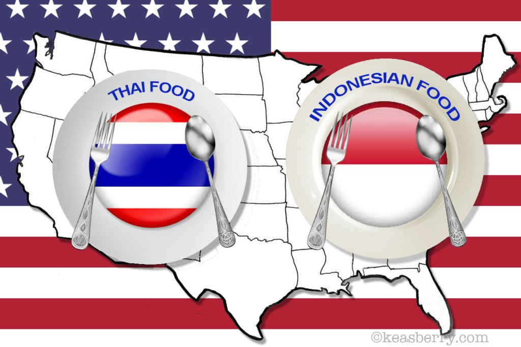 Thai vs Indonesian food in USA