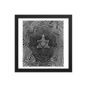 Meditation Vibes – Framed Print