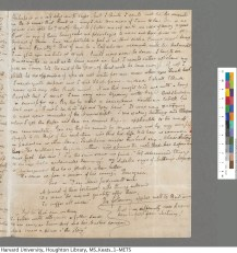 Page 3 of Keats's 10/11 May 1817 letter to Haydon. Keats Collection, 1814-1891 (MS Keats 1.7). Houghton Library, Harvard University.