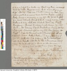 Page 2 of Keats's 16 May 1817 letter to Taylor and Hessey. Keats Collection, 1814-1891 (MS Keats 1.8). Houghton Library, Harvard University.
