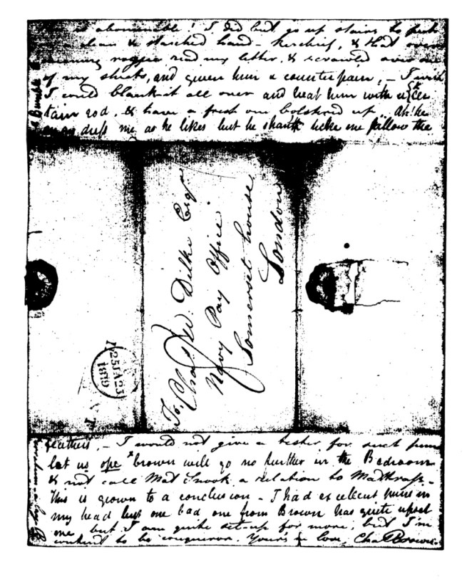 Image of the fourth page of the manuscript of Brown and Keats's letter to Charles and Maria Dilke, 24 January 1819.