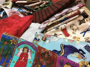 Lots of Christmas fabric
