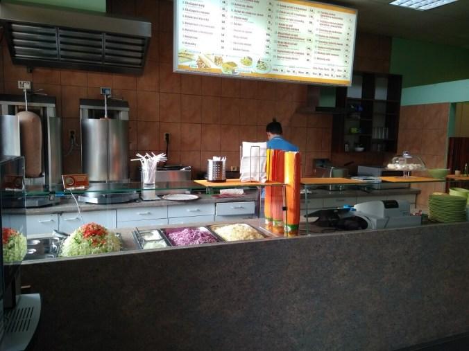 Interiér a menu - Chačapuri - Kebab (Beroun)
