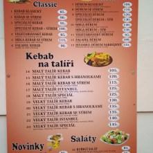 Menu - Ronny Kebab, Nové Strašecí