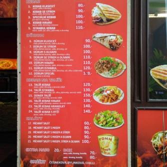 Menu - Kassan Kebab Turnov