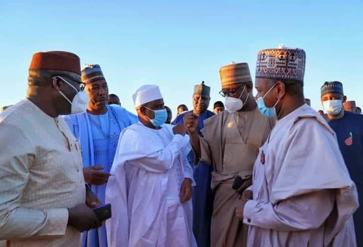 Bagudu, others, visit Borno over Zabarmari massacre