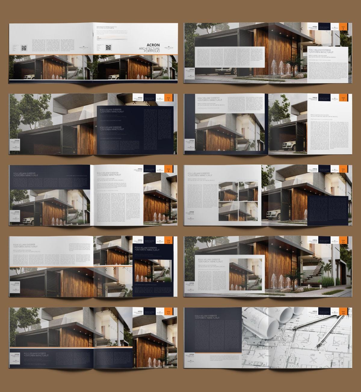 Acron Architecture Portfolio A4 Landscape - Layouts