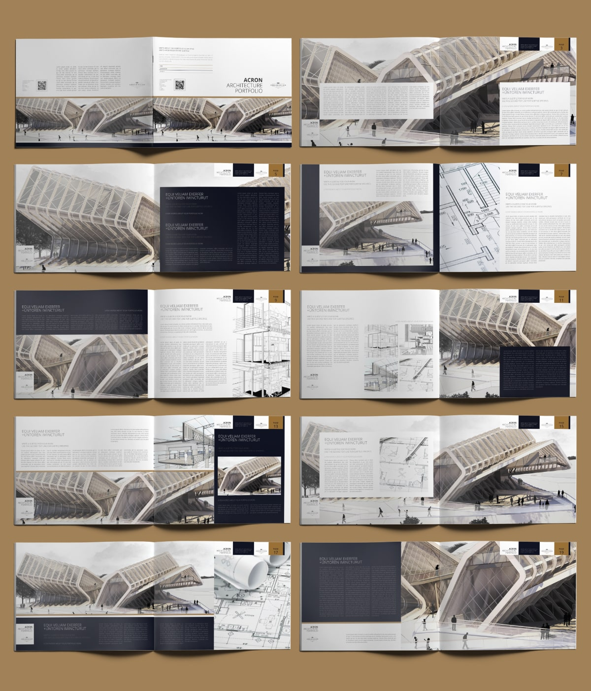 Acron Architecture Portfolio US Letter Landscape - Layouts