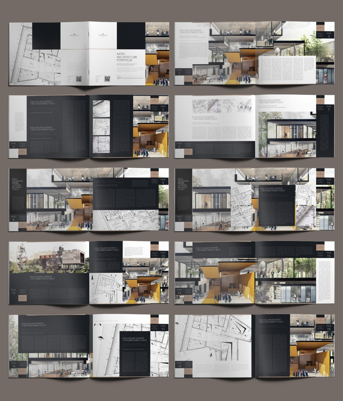 Aktio Architecture Portfolio US Letter Landscape - Layouts