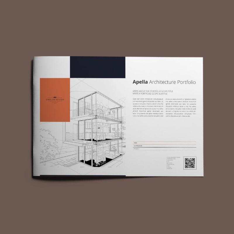 Apella Architecture Portfolio A4 Landscape