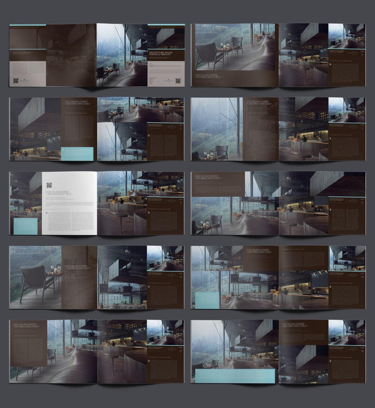 Architectural Design Portfolio Template - Layouts