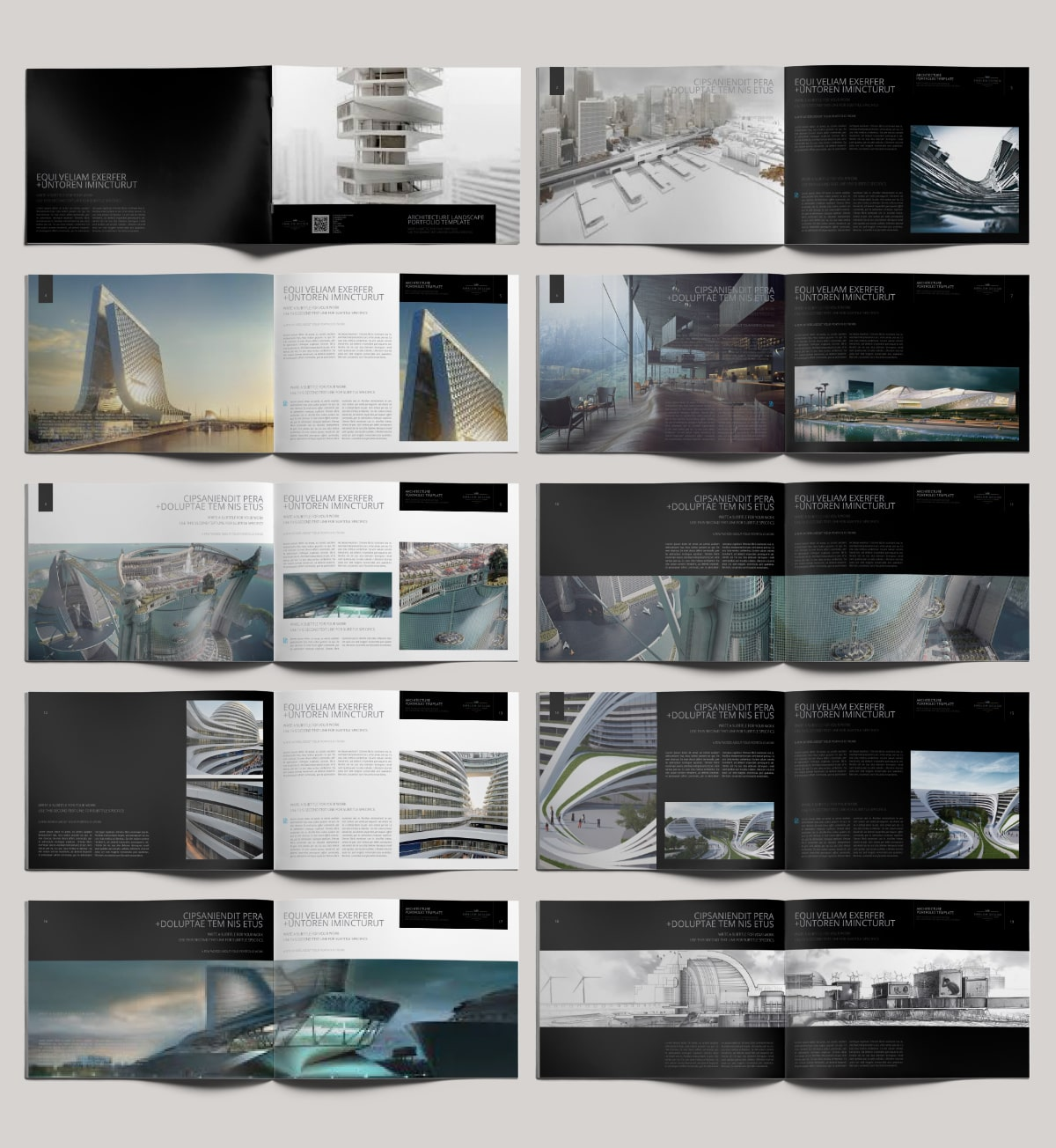 Architecture Landscape Portfolio - Layouts