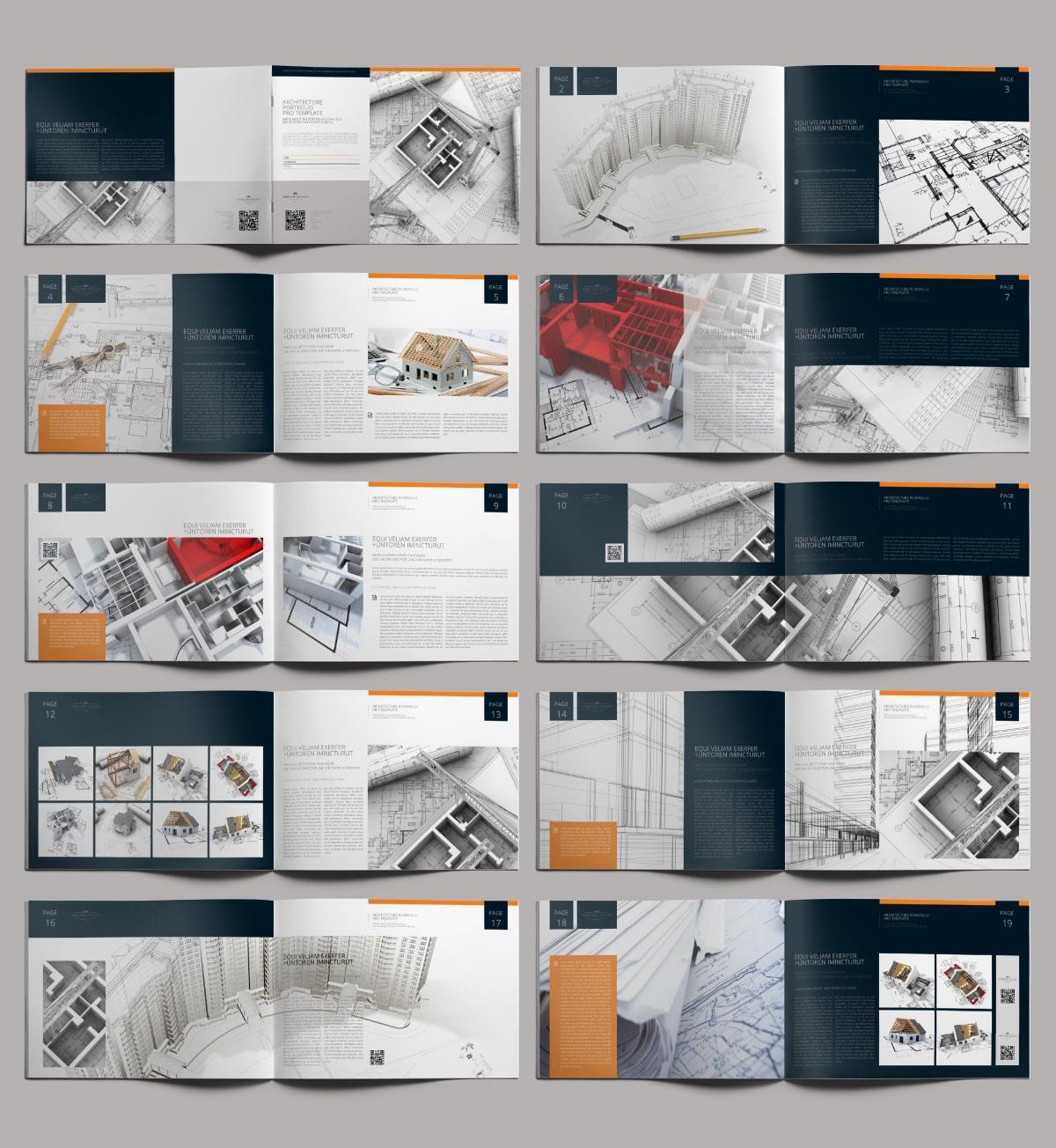 Architecture Portfolio Pro Template - Layouts
