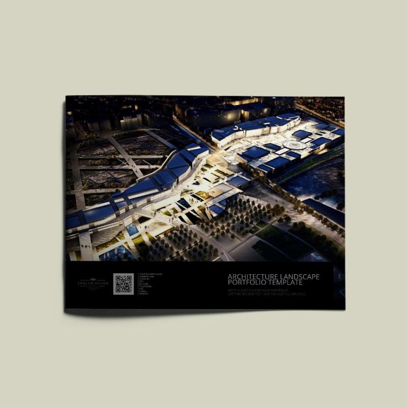 Architecture US Letter Landscape Portfolio