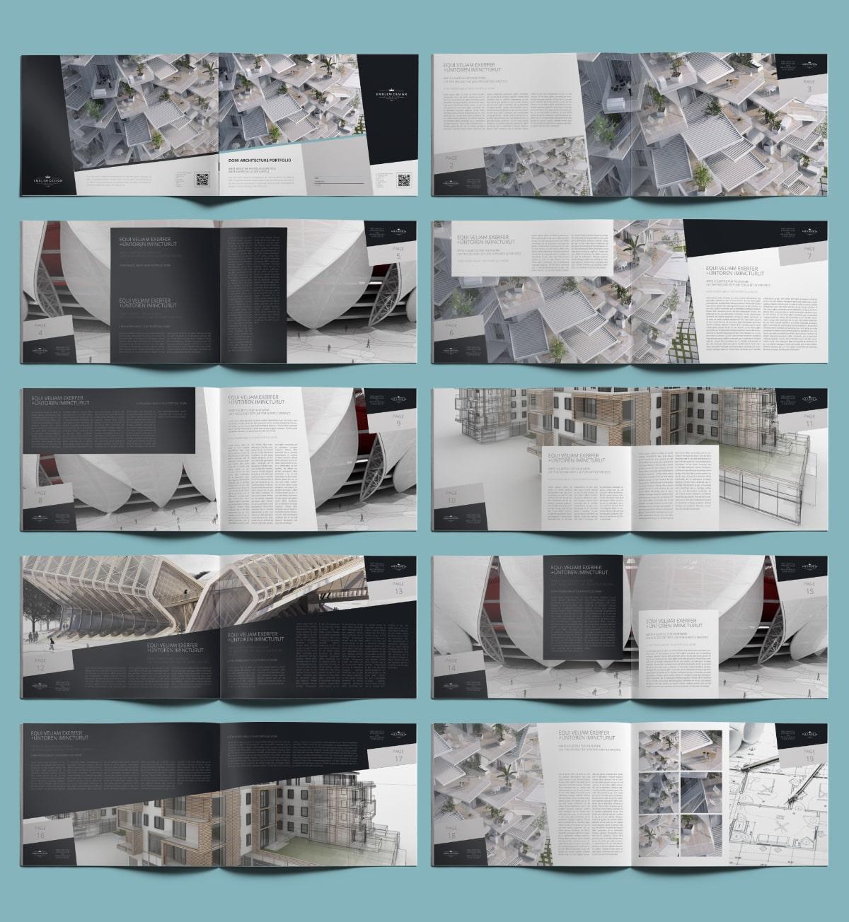 Domi Architecture Portfolio A4 Landscape - Layouts