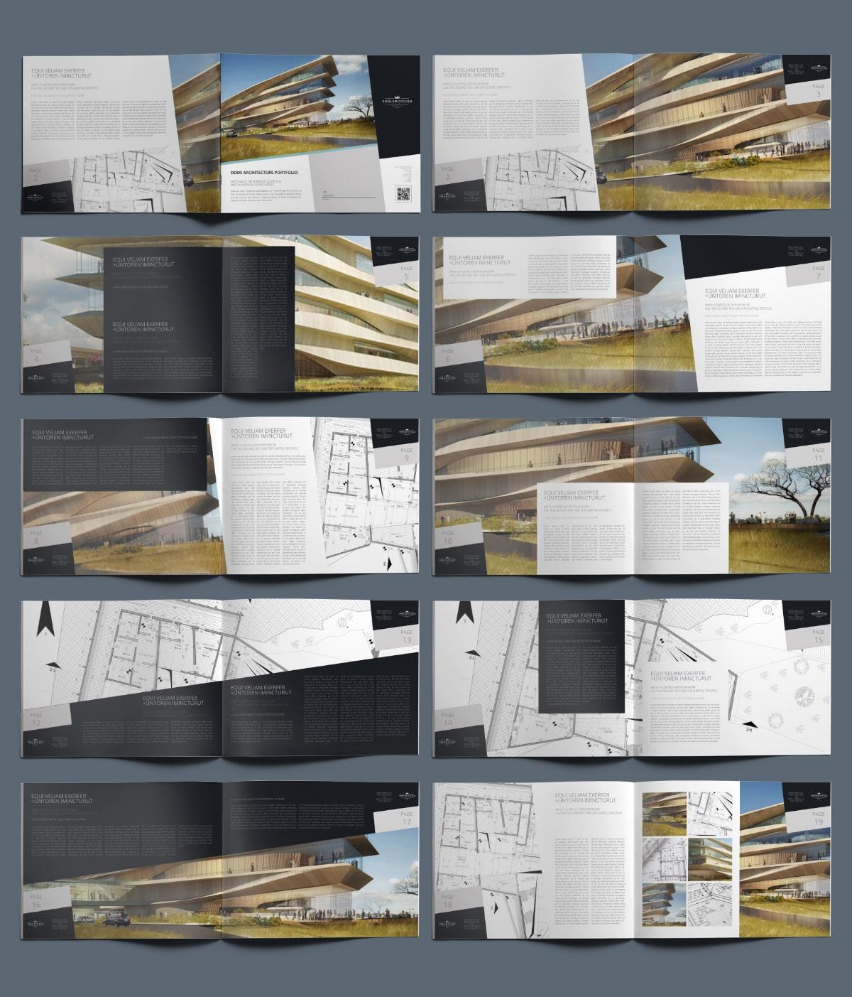 Domi Architecture Portfolio US Letter Landscape - Layouts