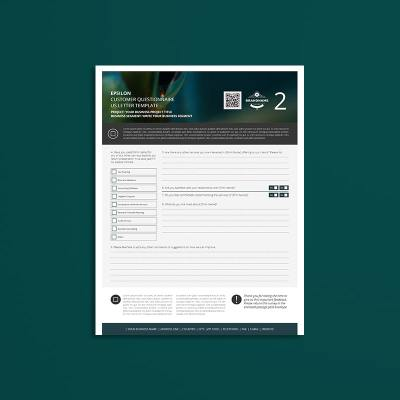 Epsilon Customer Questionnaire US Letter Template