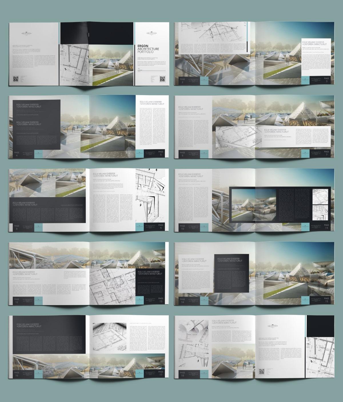 Ergon Architecture Portfolio US Letter Landscape - Layouts