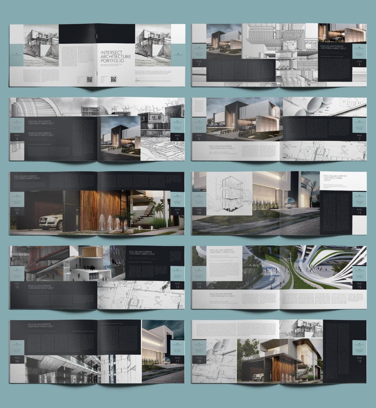 Intersect Architecture Portfolio A4 Landscape - Layouts