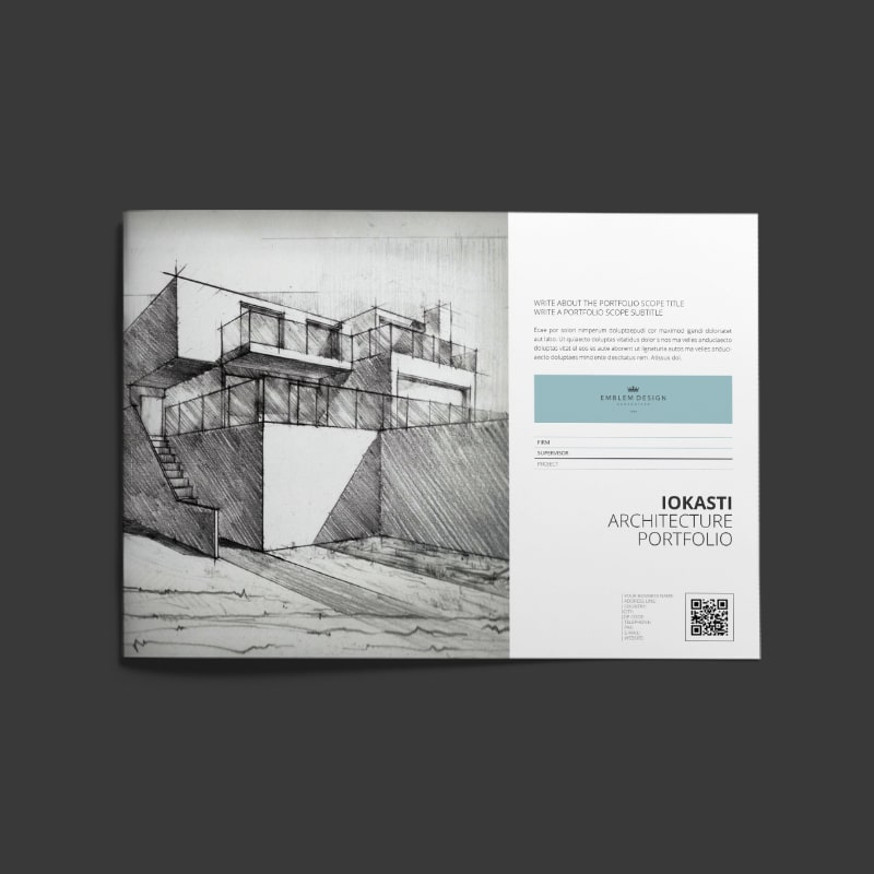 Iokasti Architecture Portfolio A4 Landscape