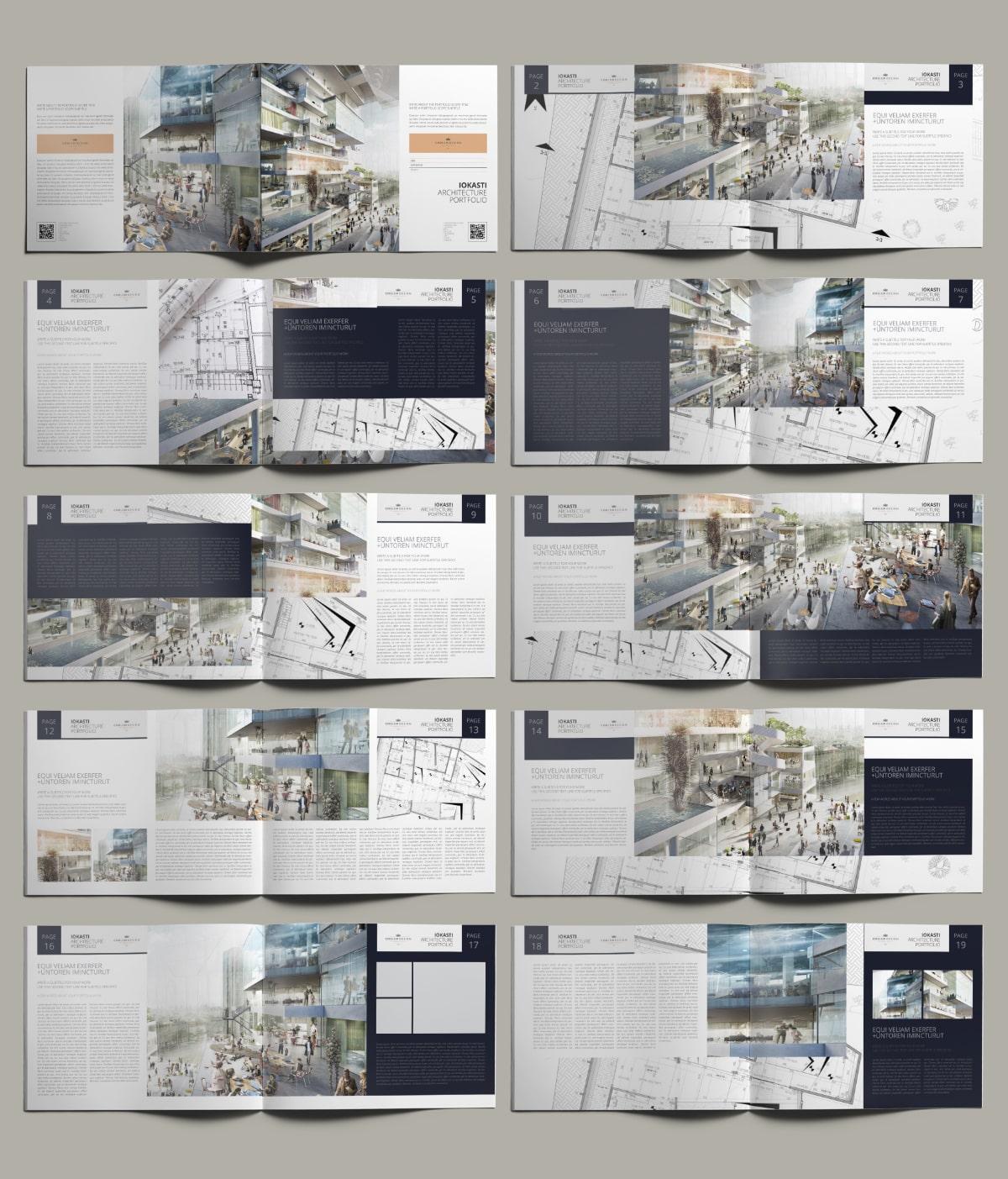 Iokasti Architecture Portfolio US Letter Landscape - Layouts