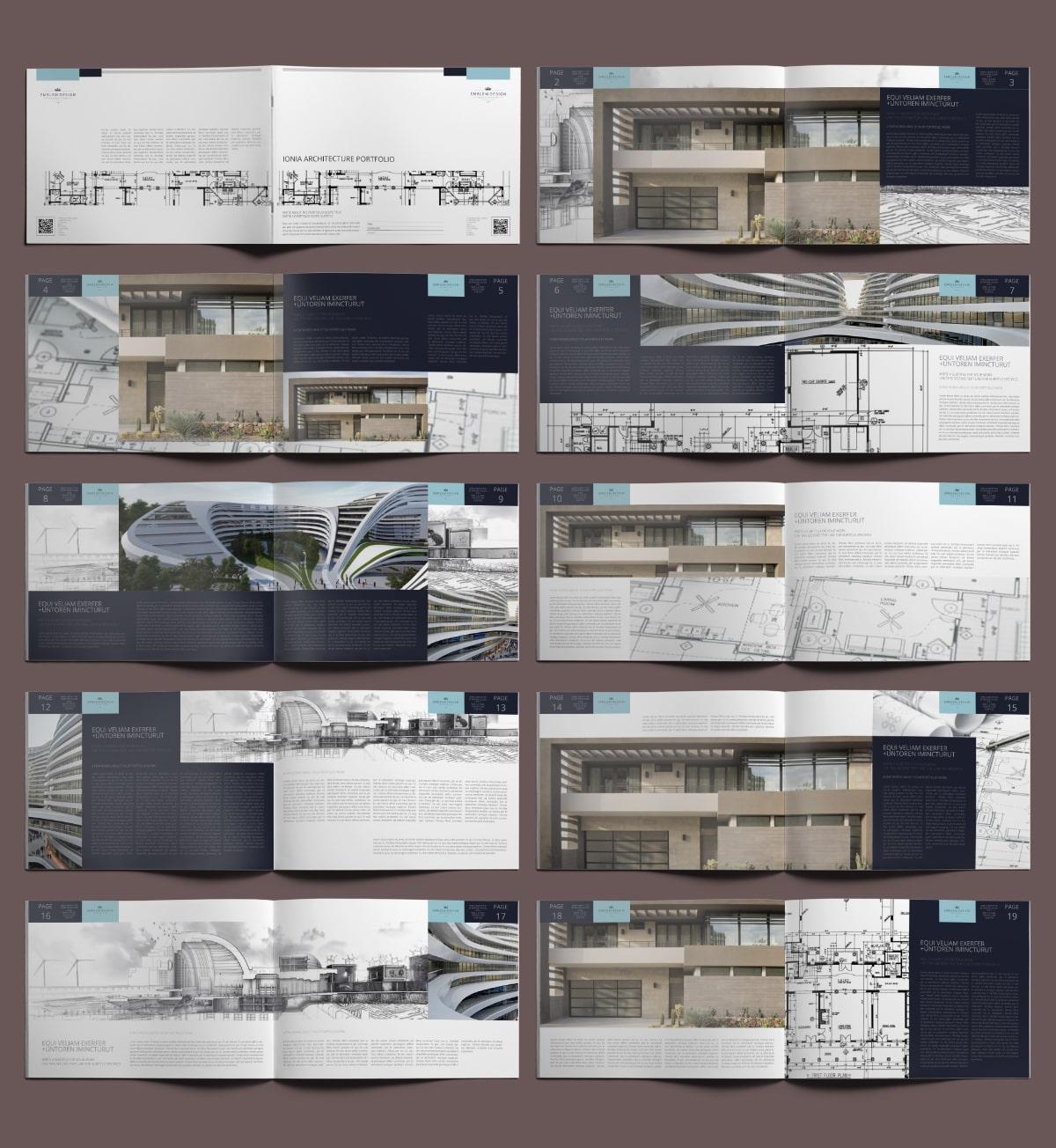 Ionia Architecture Portfolio A4 Landscape - Layouts