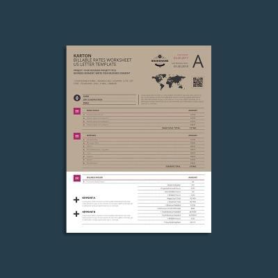 Karton Billable Rates Worksheet US Letter Template