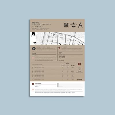 Karton Construction Quote A4 Template