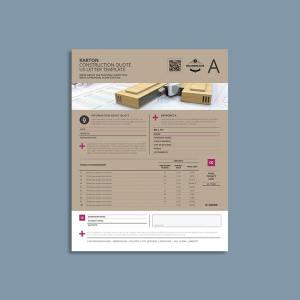 Karton Construction Quote US Letter Template