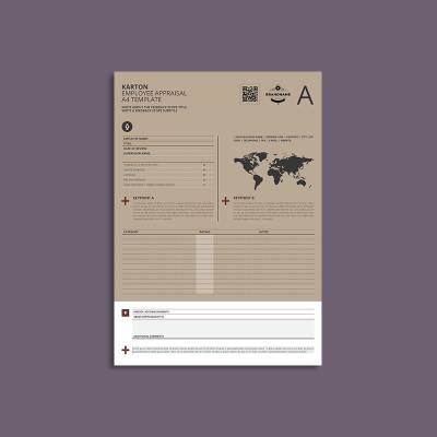 Karton Employee Appraisal A4 Template