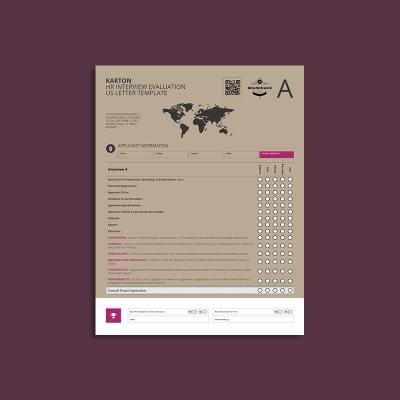 Karton HR Interview Evaluation US Letter Template