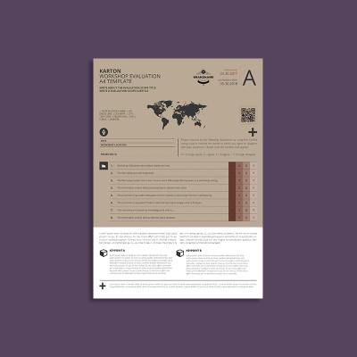 Karton Workshop Evaluation A4 Template