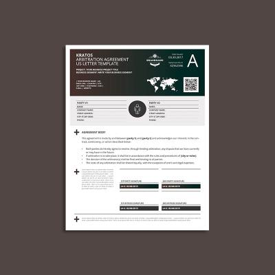 Kratos Arbitration Agreement US Letter Template