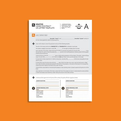 Kratos Lease Contract US Letter Template