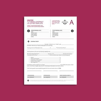 Kratos Tutoring Contract US Letter Template