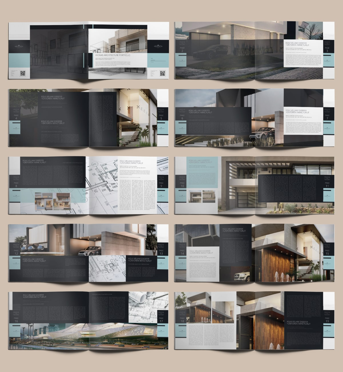 Kyonas Architecture Portfolio A4 Landscape - Layouts