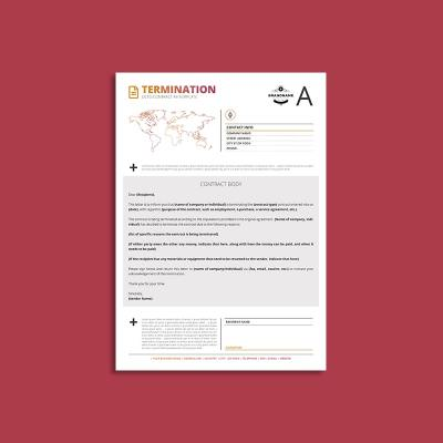 Octo Contract Termination A4 Template