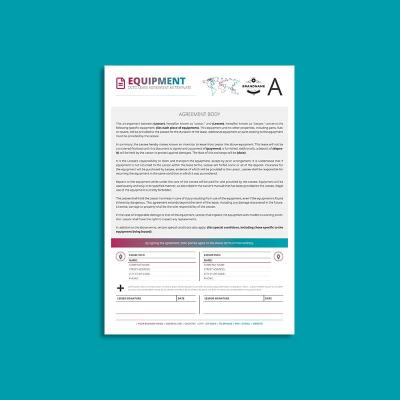 Octo Equipment Lease Agreement A4 Template