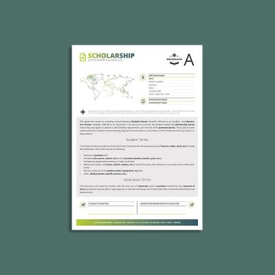 Octo Scholarship Contract A4 Template