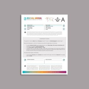Octo Social Media Marketing Agreement US Letter Template