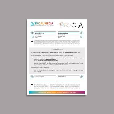 Octo Social Media Marketing Agreement US Letter Template