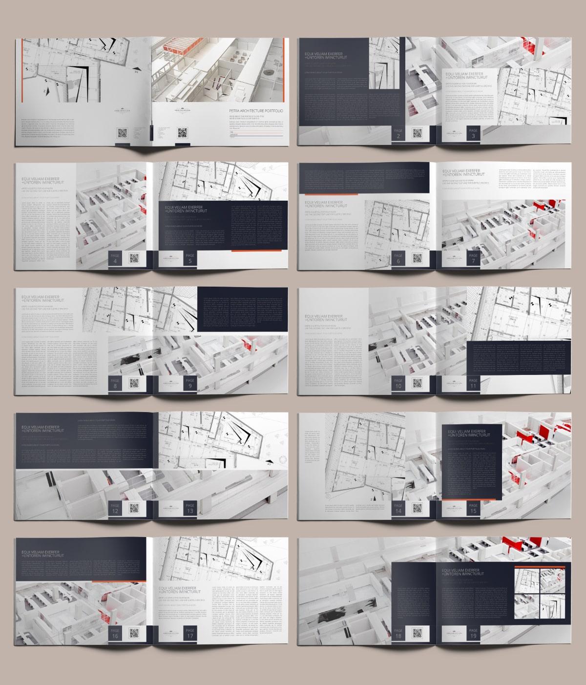 Petra Architecture Portfolio US Letter Landscape - Layouts