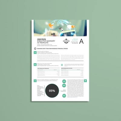 Sigma Executive Summary A4 Template