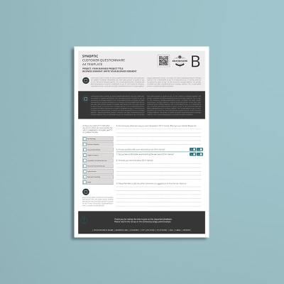 Synoptic Customer Questionnaire A4 Template